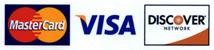 MasterCard | Visa | DISCOVER